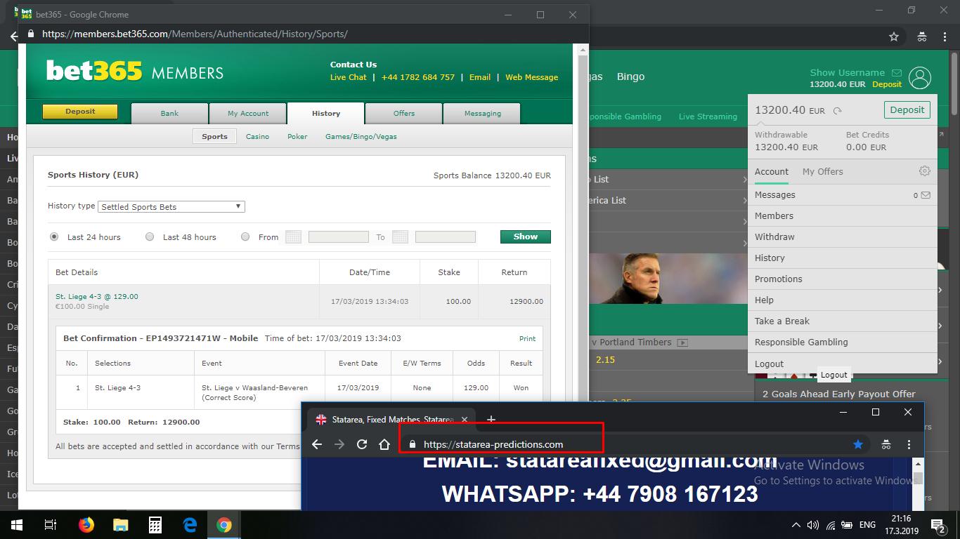 statarea fixed correct score matches 17 03